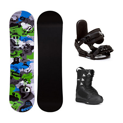 Firefly Explicit PMR Green Squirt Kids Complete Snowboard Package, , viewer