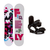 Firefly Whoop PMR Stealth Girls Snowboard and Binding Package, , medium