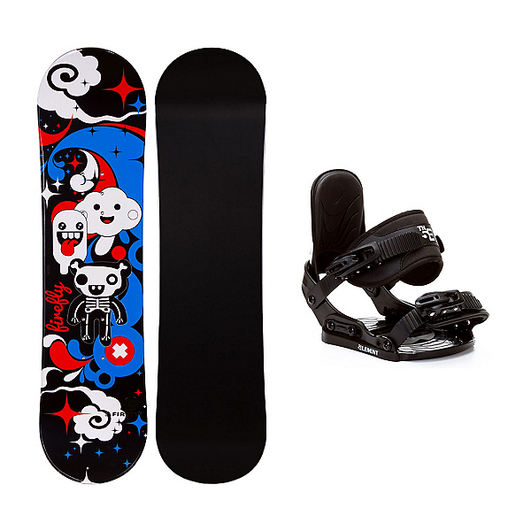 Firefly Explicit Black Stealth Girls Snowboard and Binding Package, , 600