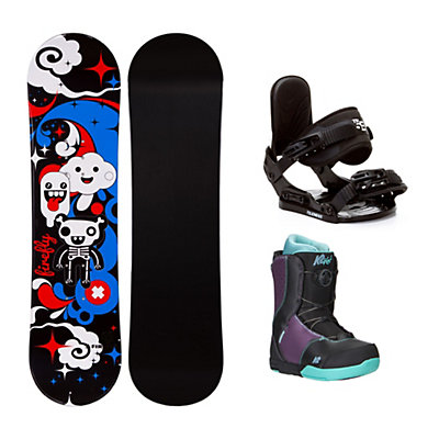 Firefly Explicit Black Kat Boa Girls Complete Snowboard Package, , viewer