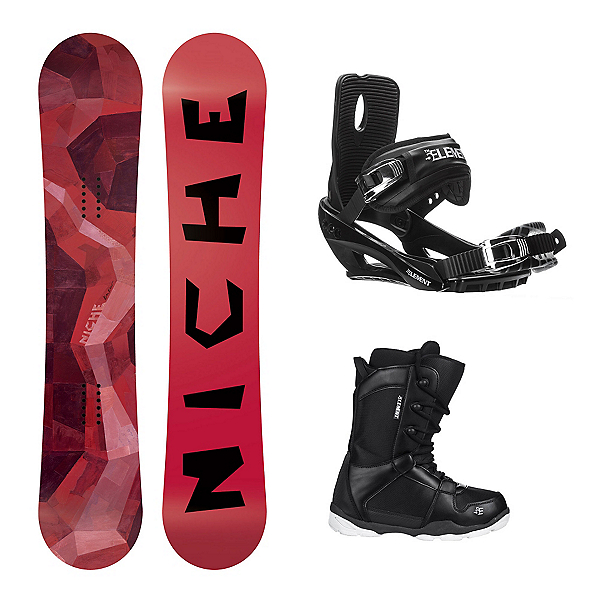 Niche Knew ST-1 Complete Snowboard Package, , 600
