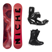 Niche Knew Wide ST-1 Complete Snowboard Package, , medium
