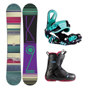 K2 First Lite Pearl Womens Complete Snowboard Package, , medium