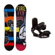 Firefly Delimit Stealth Kids Snowboard and Binding Package, , medium