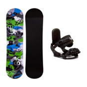 Firefly Explicit PMR Stealth Kids Snowboard and Binding Package, , medium