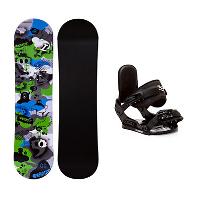 Firefly Explicit PMR Stealth Kids Snowboard and Binding Package, , viewer
