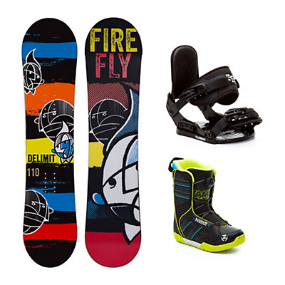 Firefly Delimit Vandal Boa Kids Complete Snowboard Package, , viewer
