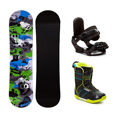Firefly Explicit PMR Green Vandal Boa Kids Complete Snowboard Package, , viewer