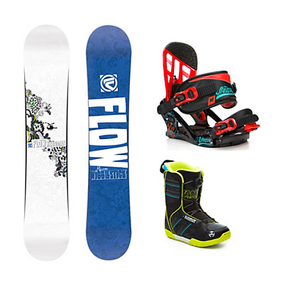 Flow Micron Wigglestick Vandal Boa Kids Complete Snowboard Package, , viewer