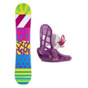 Airwalk The 90s Lil Kat Girls Snowboard and Binding Package, , medium