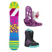 Airwalk The 90s Kat Boa Girls Complete Snowboard Package, , medium