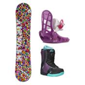 Airwalk Kaleidoscope Kat Boa Girls Complete Snowboard Package, , medium