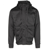 Billabong Launch Zip Mens Hoodie, Black, medium