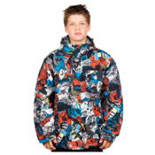 Billabong Over Boys Snowboard Jacket, Tango Red, medium