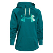 Under Armour Rival Womens Hoodie, Emerald Sari-Emerald Sari-Suga, medium