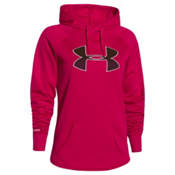 Under Armour Rival Womens Hoodie, Fury-Ox Blood-Ivory, medium