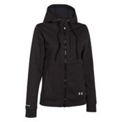 Under Armour CGI Dobson Softershell Womens Soft Shell Jacket, Asphalt Heather-Sugar Mint, medium
