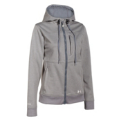 Under Armour CGI Dobson Softershell Womens Soft Shell Jacket, True Gray Heather-Ivory, medium