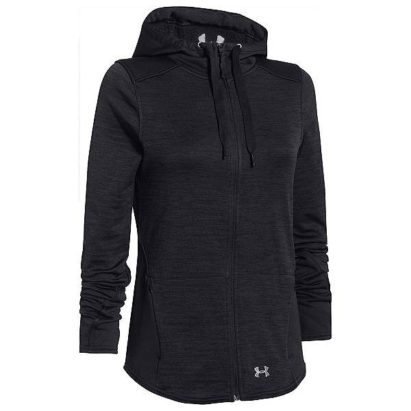 Under Armour Gamut FZ Womens Hoodie, Asphalt Heather-Black-Boulder, 600