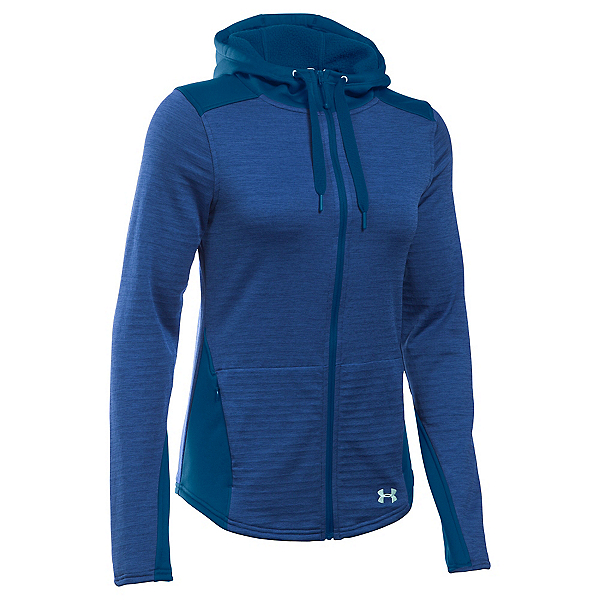 Under Armour Gamut FZ Womens Hoodie, Heron-Aqua Falls, 600