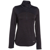 Under Armour Gamut 1/4 Zip Womens Mid Layer, Asphalt Heather-Black-Boulder, medium