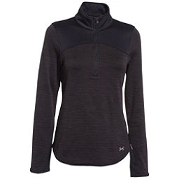 Under Armour Gamut 1/4 Zip Womens Mid Layer, Asphalt Heather-Black-Boulder, 256