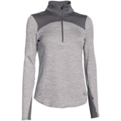 Under Armour Gamut 1/4 Zip Womens Mid Layer, Boulder-Boulder-Black, medium