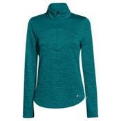 Under Armour Gamut 1/4 Zip Womens Mid Layer, Emerald Sari-Emerald Sari-Boul, medium