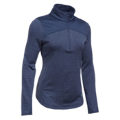 Under Armour Gamut 1/4 Zip Womens Mid Layer, Faded Ink-Aqua Falls, medium