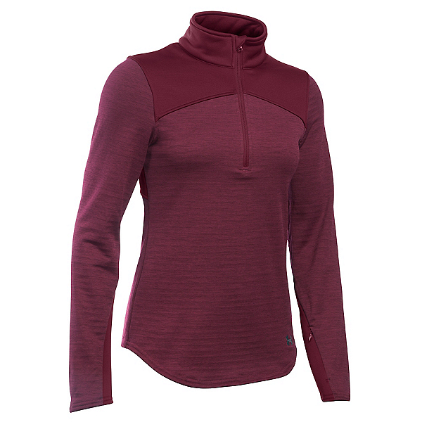 Under Armour Gamut 1/4 Zip Womens Mid Layer, Maroon-Stealth Gray, 600