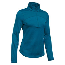 Under Armour Gamut 1/4 Zip Womens Mid Layer, Peacock-Aqua Falls, 256