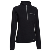 Under Armour Wintersweet Half Zip Womens Mid Layer, Black-Boulder, medium