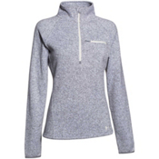 Under Armour Wintersweet Half Zip Womens Mid Layer, True Gray Heather-Ivory, medium