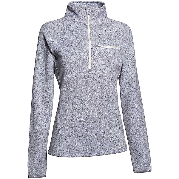 Under Armour Wintersweet Half Zip Womens Mid Layer, True Gray Heather-Ivory, 600