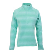 Under Armour Wintersweet Half Zip Womens Mid Layer, Crystal-Aqua Falls-Stealth Gra, medium
