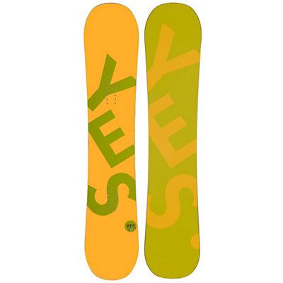 YES Basic Camrock Boys Snowboard, Orange, viewer
