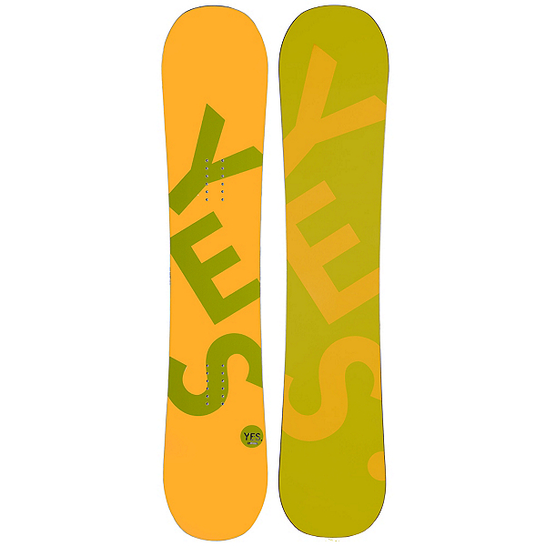 YES Basic Camrock Boys Snowboard, Yellow, 600