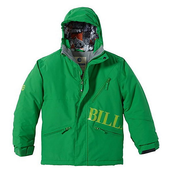 Billabong Solid Boys Snowboard Jacket, Acid Green, 600