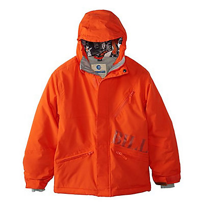 Billabong Solid Boys Snowboard Jacket, Tango Red, viewer
