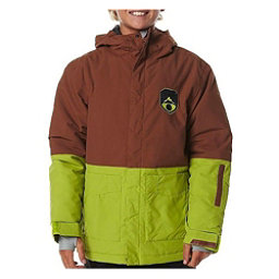Billabong Twoblock Boys Snowboard Jacket, Bison, 256