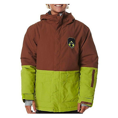 Billabong Twoblock Boys Snowboard Jacket, Bison, viewer
