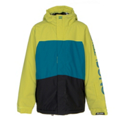 Billabong Strike Boys Snowboard Jacket, Lime, medium