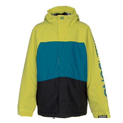 Billabong Strike Boys Snowboard Jacket, Golf Green, viewer