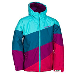 Billabong Pyneo Girls Snowboard Jacket, Blue Radiance, 256