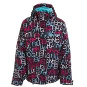 Billabong Tzuega Girls Snowboard Jacket, Black-Blossom, medium