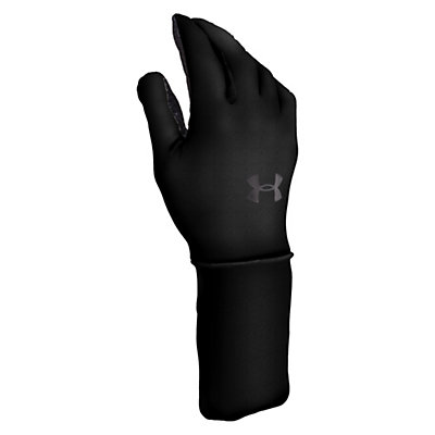 Under Armour Coldgear Liner Glove Liners, Black-Charcoal, viewer