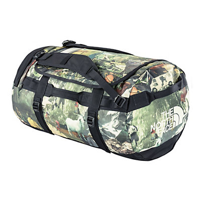 The North Face Base Camp Duffel - Medium Bag, Summit Gold-TNF Black, viewer