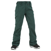 Volcom Transfer Womens Snowboard Pants, Midnight Green, medium