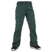 Volcom Transfer Womens Snowboard Pants, Midnight Green, medium