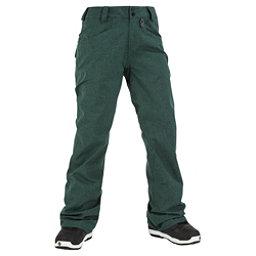 Volcom Transfer Womens Snowboard Pants, Midnight Green, 256